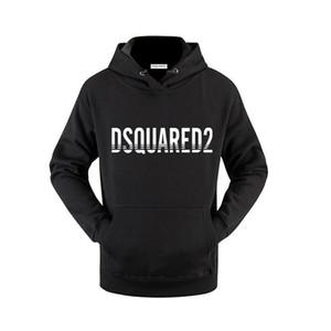 1964ss Новая Канада Dsquared2 толстовка бренд мужчин конструктора женщин Толстовки Конек Кофты верхней одежды черного белого Luxury пуловер S-3XL