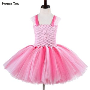 Bébés filles Cartoon Pig Tutu Robe de Noël Halloween cosplay costume rose enfants robe de princesse fille de fête d'anniversaire Tulle Robes