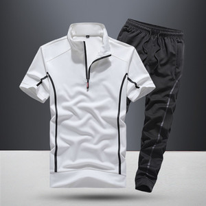 13 Styles Mens Tracksuit Two Pieces T Shirt Long Pants Jackets Sportswear Loose Casual Outfit Sport Set Fitness Shorts
