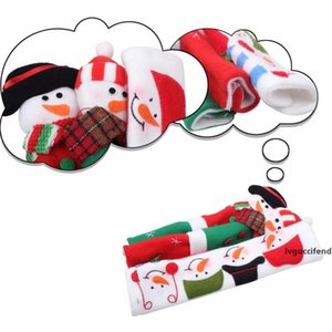 New Design Christmas Snowman Handle Covers 9 Inch For Kitchen Appliance Refrigerator And Oven Xmas Decoration 3pcs  Set
