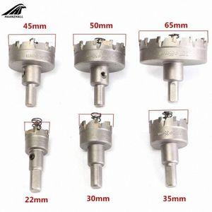 6 pc Carbide Tip Drill Hole Saw 22/30/35/45/50/65 Drill Bit Set Hole Saw Cutter per acciaio inossidabile del metallo della lega 4wiw #