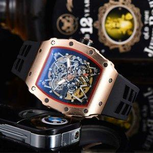 2020 Новый высокого качества роскоши Мужские часы автоматические механические часы Мужчины из нержавеющей стали Скелет Дизайн Мужской Наручные часы Мужской часы