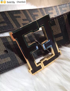Chenfei3 8DUN 2 Brown Reversible F Gürtel Made in Italy Damen Herren Echtleder WANDTEN SCHNALLTE Offizielle mit dem Kasten