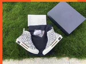 Wholesale B23 HIGH-TOP SNEAKERS OBLIQUE Mens Fashion Casual Shoes Transparent Letters Men Women High help Canvas shoes9