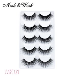 Mink & Wink New Arrival 25 Pairs Soft and Natural Black Mink Eyelashes 3D False Eyelashes 100% Hand Made with Fast Shipping