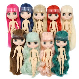 factory blyth middie doll 1 8 matte face joint body short long hair curly straight hair, special offer naked middie doll 20cm CX200715