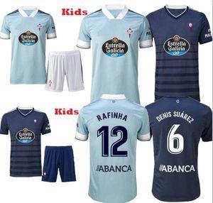 رجل + الاطفال 20 21 RC سيلتا فيغو كرة القدم جيرسي LOBOTKA ياغو أسباس SANTL MINA كرة القدم قميص SISTO BOUFAL اسبانيا 2020 21 سيلتا فيجو