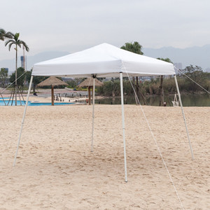 US Stock White Practical Awning for Outdoor Picnic Tents 2.5 x 2.5m Portable Home Use Waterproof Folding Tent
