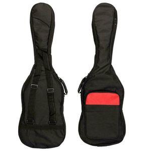 New Backpack Padde Nylon Gig Case Soft Electric Black Guitar Bag Iusve