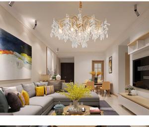 التصميم الإبداعي الحديثة الثريا الكريستال لغرفة المعيشة الذهب الحديثة أدى ثريات الإضاءة ديكور المنزل شنقا مصباح كريستال