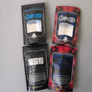 Neue Arten CONNECTED Kalifornien SF 8. 3.5g Alien Labs Mylar Kindersichere Taschen 420 Verpackung Angeschlossen Plätzchen Tasche Größe 3.5g-1 8 Taschen