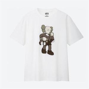 Cin nuevas camisetas de los amantes mujeres del hombre de la camiseta de manga corta ocasional UNIQLO X X KAWS Sesame Street L ropa de moda ropa exterior camisetas camiseta tops calidad