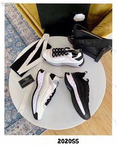 2020 Paris Fashion Baskets femme Velvet Calfskin Plate-forme Chaussures Luxe légère Sneaker Ivoire Noir Top Chaussures de qualité