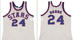 Homens Vintage # 24 Ron Boone 1971-1972 Estrada RETRO Início malha de tecido bordado Full Size S-4XL ou personalizado qualquer nome ou número de camisa Colégio