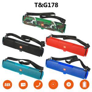 FM radyo TF AUX usb ile TG178 Ses çubuğu Taşınabilir Bluetooth Hoparlör Güneş Enerjisi şarj Sütun Müzik Merkezi stereo subwoofer Bom kutusu
