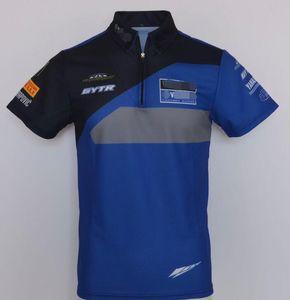 A nova equipa de fábrica de uniformes camisa POLO lapela de secagem rápida T-shirt Dakar Yamaha terno motorista versão de corrida pode ser personalizado