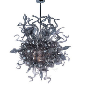 Smoky Grey Blown Art Glass Chandelier Modern Home Projetado Handmade Murano Vidro CE UL Certificado LED Estilo de vidro Lustre