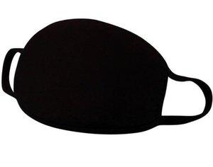 Máscara preta de protecção Anti Poeira Poluição Unisex Rosto Boca Máscara lavável reutilizável de algodão para o trabalho doméstico Fume Ciclismo Camping esqui