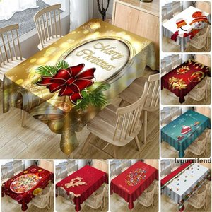 Table Cloth New Year Christmas 3D Printed Waterproof Full Polyester Tablecloth Christmas Decorations home Table Cover 13 Style WX9-1728