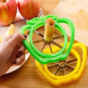 Gadgets de cocina de acero inoxidable cortador de la máquina de cortar vegetales de frutas Herramientas Accesorios de cocina Easy Cut Slicer Cortador YYA55