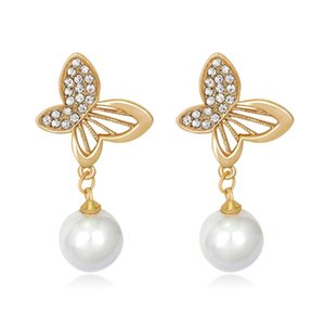 New Fashion Bridal Earrings with Pearl Rhinestones Earring Bridal Jewelry Findings Wedding Accessories For Bridesmaids BW-BA065