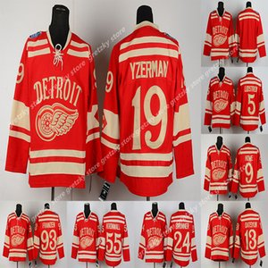 clássicos de inverno Detroit vermelho asas RBK camisola 8 Abdelkader 9 Howe 13 hockey jersey Datsyuk 19 Steve Yzerman 71 Dylan Larkin personalizado