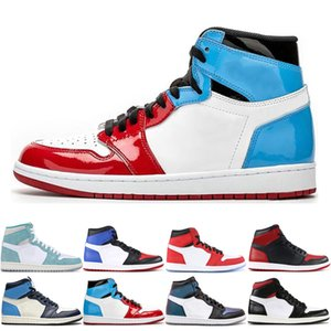 Basketball Fashion Mens Shoes 1 1s Multi-Color Phantom Banned Bred Toe Shadow Gold Top UNC Best Quality Men Athletics Sneakers Trainers
