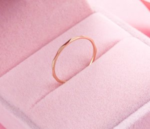 Fashion Simple Women's Ring Titanium Steel Rose Gold Ins European And American Style Versatile Diamond Texture