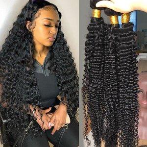 Heiße verkaufende brasilianische tiefe Welle Haar 1/3/4 Bundles Tief Gelockt Weaves 8-30 Zoll natürliche Menschenhaar