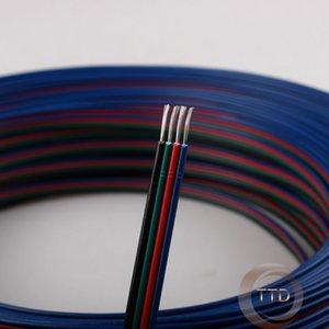 Atacado-10m 20AWG, 4 pinos cabo RGB, PVC isolou o fio, cabo elétrico, cabo de LED, Livre para escolher o número de metros