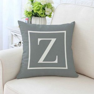 2016 Letter Cushion Cover Sofa Chair Seat Car Pillow Case 4545Cm Pillowcase English Alphabet Pillow Cover Decorative Cushion Sunbrella bde20
