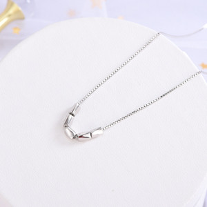 Korean-style Celebrity Inspired Creative Clavicle Chain S925 Sterling Silver Jewelry Small Fresh Cute Peas Pendant Necklace a Generation of