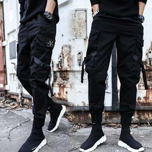 Songsanding Erkekler yeni hiphop Harajuku spor pantolon toptan gündelik moda caddesi çocuk spor pantolon koşu cebi overalls