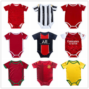 Baby Paris Mbappé soccer Jersey Man Utd 2020 21 bambin 6-18 months Ball Infant Squad Bodysuit 20 21 Real Madrid Crawling clothes futbol