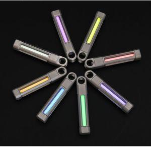 EDC Outdoor Ti TC4 Tritium Multicolor CNC Luminous Key pendant Hole Tritium Tube Self-luminous Signal Light Pendant Key chain Bead