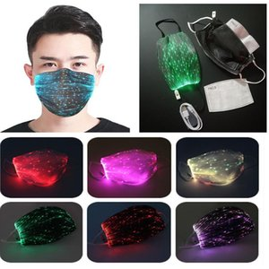 Glowing Mask PM2.5 Reusable mask Luminous LED Face Masks Christmas Party Festival Masquerade Rave Mask YYA202