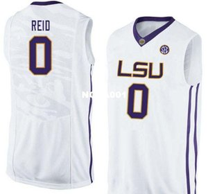 Men LSU Tigers Naz Reid #0 Basketball Players College Real embroidery jersey Size S-4XL or custom any name or number jersey