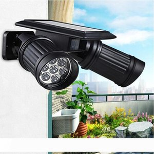 Solar Security Lights with Outdoor Motion Sensor Light Waterproof 14 LED Wall Lamps Gutter Light Working double Modes for Porch, Garage, Ea