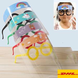 DHL Gemi! Çocuklar Emniyet faceshield Şeffaf Tam Yüz Kapak Koruyucu Film Anti- sis Premium Yüz Shield parti Maskesi Kafa Kapak