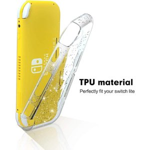 Christmas Crystal Glitter Boxes for Nintendo Switch Lite, Clear Shiny Sparkly TPU fluorescent soft Cover shell case for Switch Lite