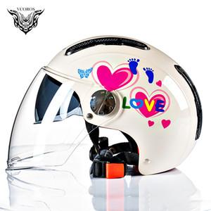 NUEVA LLEGADA VCOROS VH102 Electromobile padres e hijos bocetado Vespa de la vendimia del casco es libre para adultos y niños