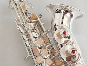 Brand New Yanagisawa S-901 Curved Neck Bb Tune Silver Brass Soprano Saxophone Instrument For Students With Mouthpiece