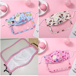 2 in 1 kids face shields Protective eye children Face Shield cover Reusable Breathable boys girls mask