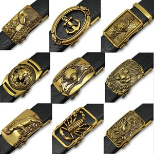 Retro Golden Faucet Belt Men Buckle Jeans Belt Automatically buckles for men Buckle Strap for Jeans men's belts luxury