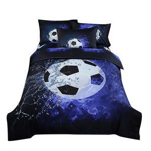 Cartoon 3D Queen King Bedding Sets 2 3pcs Duvet Cover Boy Football Basketball Bed Sheet Pillowcase Duvet Covers Home Textile