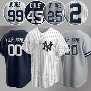 사용자 정의 양키스 유니폼 99 아론 판사 유니폼 (45) 게릿 콜 저지 2 데릭 지터 뉴저지 (24) 게리 산체스 (27) 지안카를로 스탠튼 야구