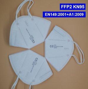 En Stock envío libre de DHL EN149 máscara de la mascarilla máscara protectora EN 149: 2001 + A1: 2009 CE 2016/425