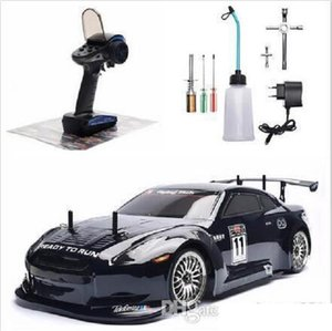 RC Car 4wd 1:10 On Road Racing Two Speed Drift Vehicle Toys 4x4 Nitro Gas Power High Speed Hobby Remote Control Car
