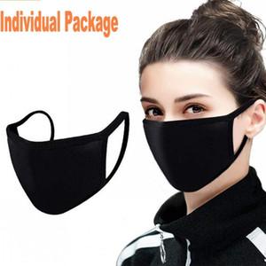 Designer Fashion Cotton Face Mask Black Dust Antipolveria PM2.5 Maschere per viso Maschere lavabili Maschere riutilizzabili Anti polvere traspirante
