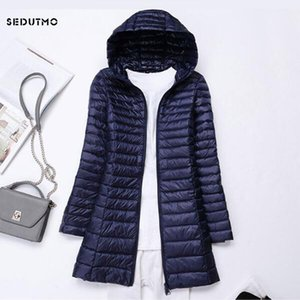 Coats SEDUTMO Winter Long Ultra Light Duck Down Jackets Women Plus Size 3XL Down Coat Spring Puffer Jacket Slim Hooded Parkas ED230